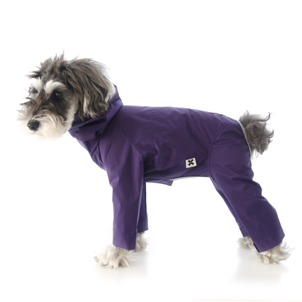 wear F rain wear purple