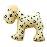 dog plush toy schnauzer monogram yellow
