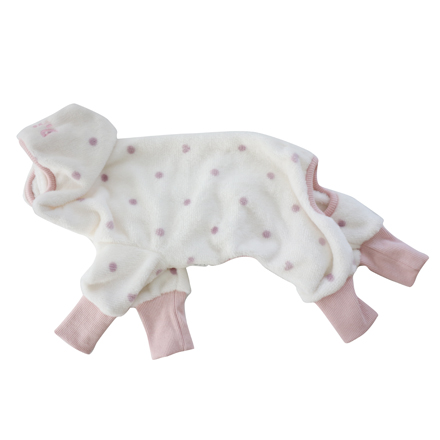 wear bear warm coverall dot pink
