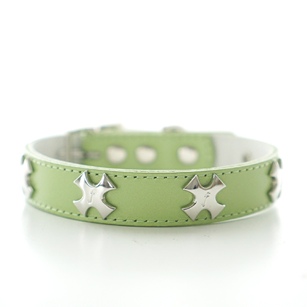 collar f cross lime