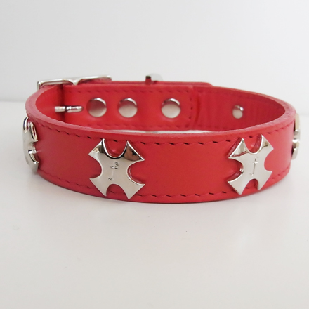 collar f  cross red