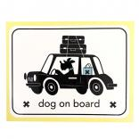 living dog on board sticker