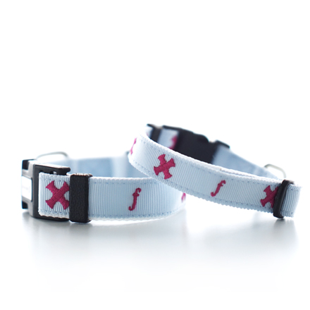 rainy day SALE10%OFF tape collar blue x pink