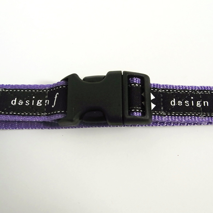 collar+leash set   design f logo purple