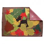 care microfiber towel autumn leaves