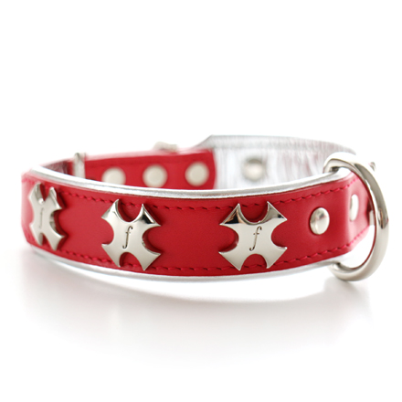 SALE20%OFF cross collar concha red x silver