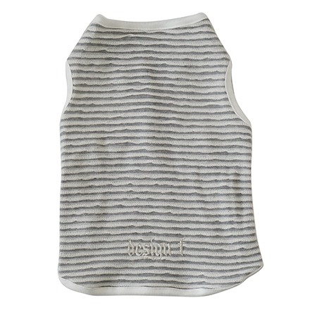 wear border tuck tank top gray