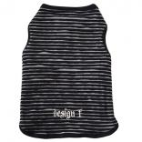 wear border tuck tank top black