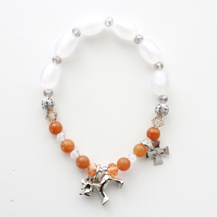 accessories stone necklace orange