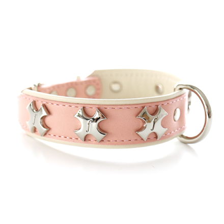 cross collar concha pink
