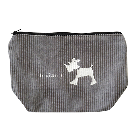 living f dog corduroy pouch