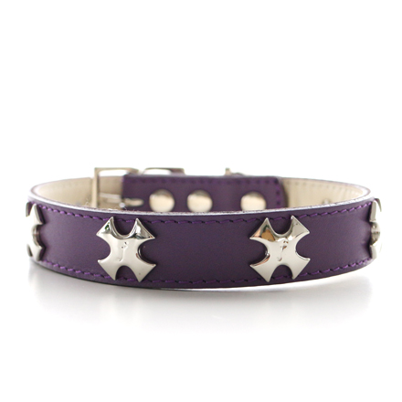 collar f  cross purple