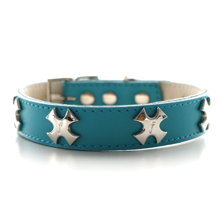 collar f  cross turquoise