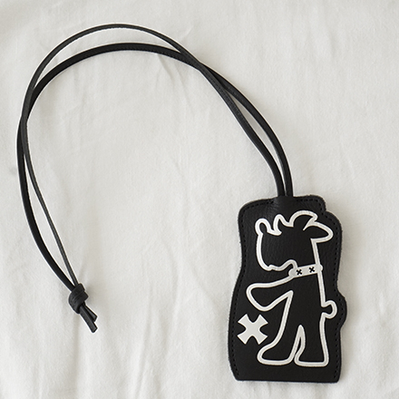 living f dog leather key necklace