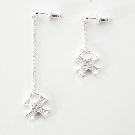 accessories cross pave dangling pierce