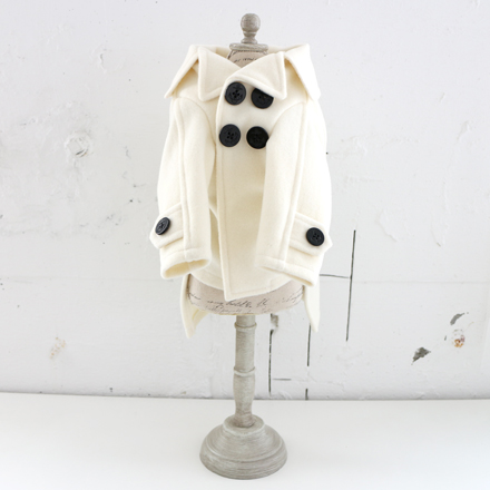 SALE20%OFF wear fadee pea coat white